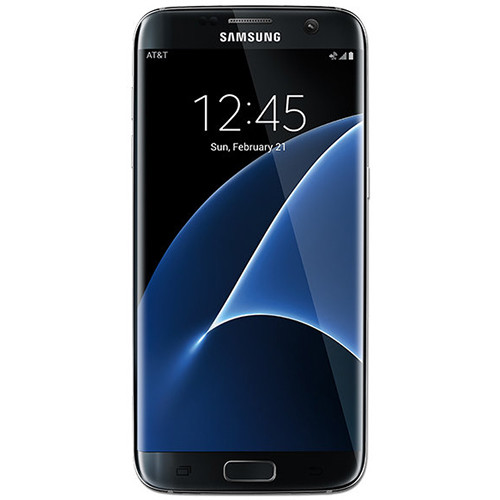 Samsung Galaxy S7 edge SM-G935A 32GB AT&T Branded Smartphone (Unlocked, Black) - 212 NYC Wireless